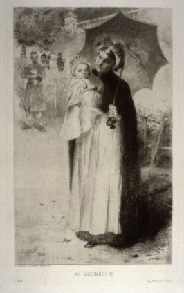 Au Luxembourg (Nurse and Child in Park), published in L'Art