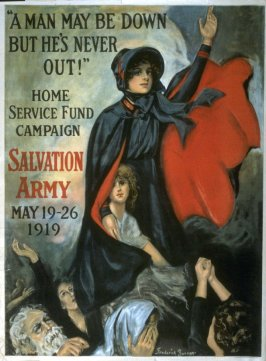 A Man May Be Down But He's Never Out! - World War I poster