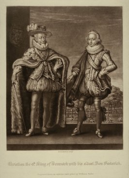 Christian the 4th King of Denmark with his eldest son, Frederick