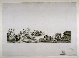 One from a series of etchings of the War in Italy in 1794