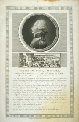 Gilbert, Mottier, Lafayette…, plate 2 in the book, Collection de portraits … dans la Révolution Français ([probably Paris, ca. 1802])