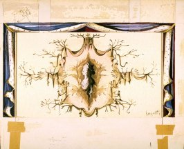 Curtain Sketch for Beauty & the Beast, San Francisco Ballet