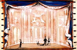 Decor for Interior of Grand Ballroom in Beauty and the Beast, Act II