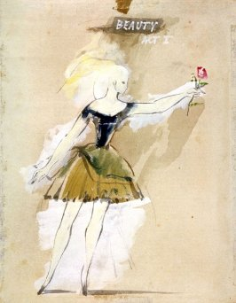 """Costume sketch : """"Beauty"""" for Beauty and the Beast, Act I"""