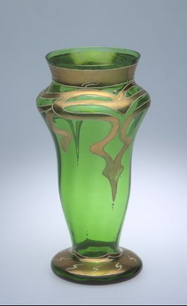 Vase yellow and green