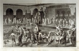 A swimming bath on the Seine, at Paris, from Harper's Weekly, (June 21, 1873), pp. 540-541