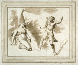 Cephalus and Procris, illustration to the series 'A collection of prints, after the sketches and drawings of the late celebrated Giovanni Battista Cipriani'