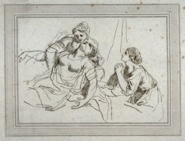 Death of Dido, illustration to the series 'A collection of prints, after the sketches and drawings of the late celebrated Giovanni Battista Cipriani'
