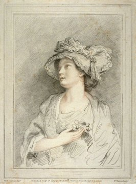 Portrait of a young woman, illustration to the series 'A collection of prints, after the sketches and drawings of the late celebrated Giovanni Battista Cipriani'