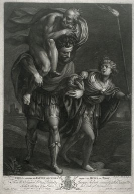 Aeneas Carrying His Father Anchises from the Ruins of Troy