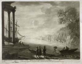 Coast Scene, plate 2 from vol.I of Earlom's Liber Veritatis (1777)