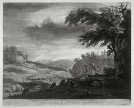 Pastoral Landscape, plate 7 from vol.I of Earlom's Liber Veritatis (1777)