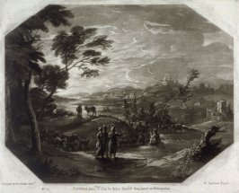 Pastoral Landscape, plate 12 from vol.I of Earlom's Liber Veritatis (1777)