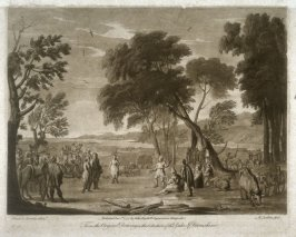 Landscape with a Country Dance, plate 13 from vol.I of Earlom's Liber Veritatis (1777)
