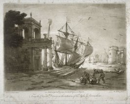 Harbor Scene, plate 29 from vol.I of Earlom's Liber Veritatis (1777)