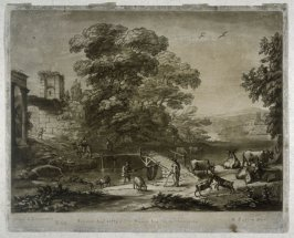 Landscape with the Flight into Egypt, plate 60 from vol.I of Earlom's Liber Veritatis (1777)
