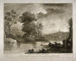 Landscape with a River, plate 68 from vol.I of Earlom's Liber Veritatis (1777)