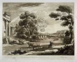 Pastoral Landscape, plate 85 from vol.I of Earlom's Liber Veritatis (1777)