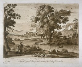 No.124: Pastoral Landscape, the 24th plate from vol.II of Earlom's Liber Veritatis (1777)