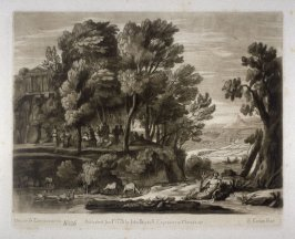No.126: Landscape with the Muses on Mount Parnassus, the 26th plate from vol.II of Earlom's Liber Veritatis (1777)