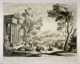 No.150: Landscape with Mercury and Argus, the 50th plate in vol.II of Earlom's Liber Veritatis (1777)