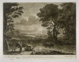No.160: Landscape with Tobias and the Angel, the 60th plate from vol.II of Earlom's Liber Veritatis (1777)