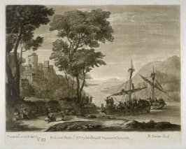 No.185: Landscape with the Arrival of Aeneas at Pallanteum, the 85th plate from vol.II of Earlom's Liber Veritatis (1777)