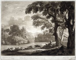 Landscape with St. John the Baptist, plate 97 from vol.I of Earlom's Liber Veritatis (1777)