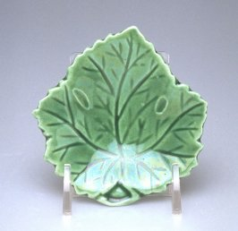 Leaf molded pickle dish