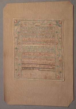 "Sampler: inscribed, ""Phebe Eggleston"""
