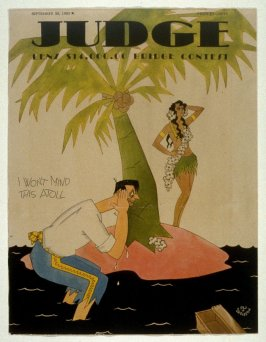 """""""I won't mind this atoll"""" Cover for Judge Magazine"""
