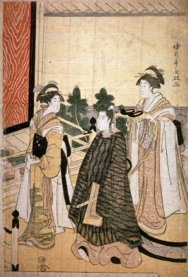 Return of Prince Genji from a Shinto Shrine, part 2 of a pentaptych