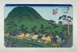 Sakamoto, pl. 18 from a facsimile edition of Sixty-nine Stations of the Kiso Highway (Kisokaido rokujukyu tsui)