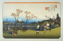 Omiya, pl. 5 from a facsimile edition of Sixty-nine Stations of the Kiso Highway (Kisokaido rokujukyu tsui)