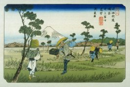 Konosu, pl. 8 from a facsimile edition of Sixty-nine Stations of the Kiso Highway (Kisokaido rokujukyu tsui)