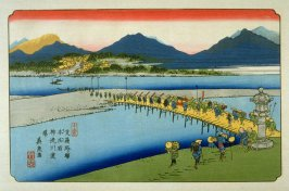 Honjo, pl. 11 from a facsimile edition of Sixty-nine Stations of the Kiso Highway (Kisokaido rokujukyu tsui)