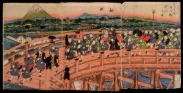 Children's Pastimes: A Procession on Nihon Bridge (Osana asobi Nihonbashi gyoretsu no zu)