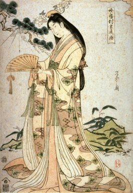Princess Sotoori (Sotoorihime), a panel from the triptych, Legendary Women in Modern Dress (Yatsushi sampukutsui)