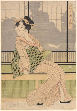 Furyu yusuzumi sanbijin (Three elegant women enjoying the evening cool)