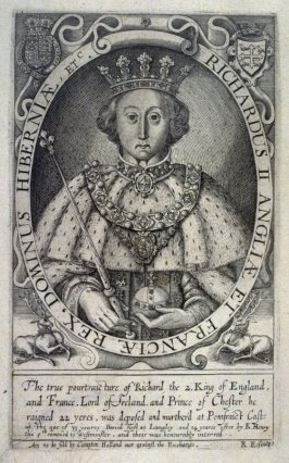 Portrait of Richard II, illustration from the 'Baziliologia, a Booke of Kings' (1618)