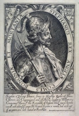 King Stephen, son to Stephen Earl of Benois, illustration from the 'Baziliologia, a Booke of Kings' (1618)
