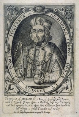 Portrait of Richard III, King of England and France, Lord of Ireland; illustration from 'Baziliologia, a Booke of Kings' (1618)