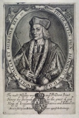 Portrait of Henry VII, illustration from 'Baziliologia, a Booke of Kings' (1618)