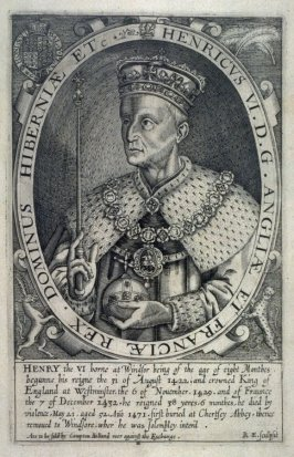 Portrait of Henry VI, illustration from 'Baziliologia, a Booke of Kings' (1618)
