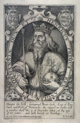 Portrait of Henry I, Beauclark, illustration from 'Baziliologia, a Booke of Kings' (1618)