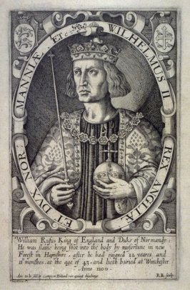 Portrait of William Rufus, King of England and Duke of Normandy, illustration from 'Baziliologia, a Booke of Kings' (1618)