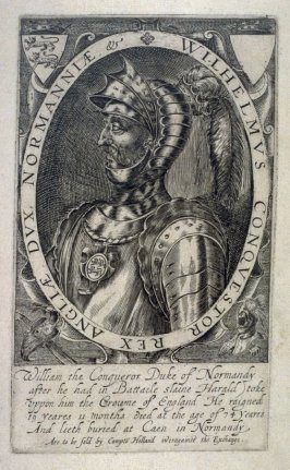Portrait of William the Conquerer, illustration from 'Baziliologia, a Booke of Kings' (1618)