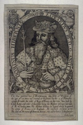 Portrait of King Edward III, illustration from William Martin's 'Historie and Lives of the Kings of England' (1638)