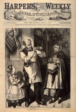 The Doubtful Bank-Note - Title page Harper's Weekly (15 March 1873)