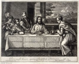 Christ dividing bread with his disciples